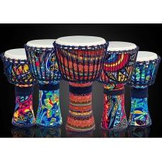 民族彩繪非洲鼓 (8-12吋)
